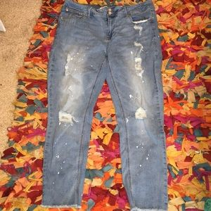 Skinny ankle jeans distressed 14 seven brand light